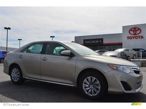2014 Toyota Camry Colors by 2014 Creme Brulee Metallic Toyota Camry Le 90881982