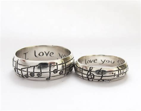 your song wedding rings any song one of a sterling