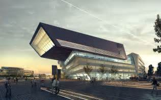 architektur rendering zaha hadid 39 s library and learning center buildipedia