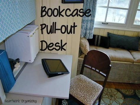 Pull Out Bookcase by Bookcase Makeover And Pull Out Desk For Home Office