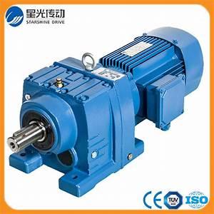 China Coaxial Helical Bevel Gearmotor R77
