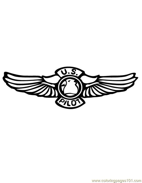 pilot wings coloring page  shapes coloring pages coloringpagescom