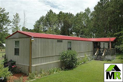 Mobile Home Metal Roof  A Red Metal Roof Not Only