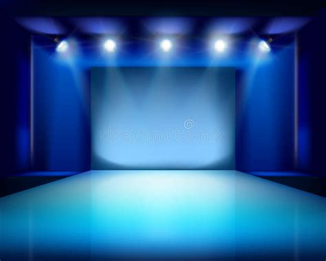 Empty Stage Vector Illustration Stock Vector Image