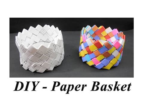 diy    paper basket youtube