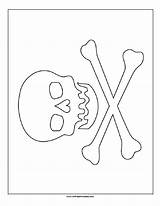 Pirate Flag Printable Coloring Template sketch template