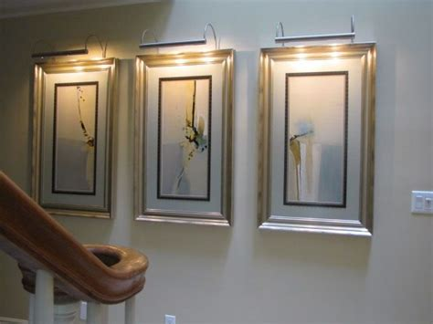 small wall mounted art lights can be added as desired