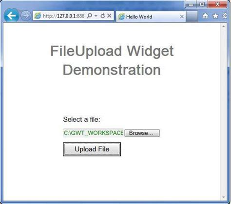 Gwt Fileupload Widget