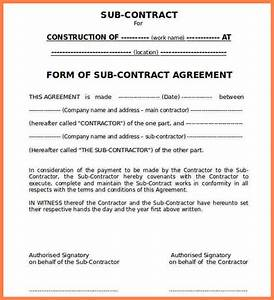 subcontracting agreement template - 9 construction subcontractor agreement template