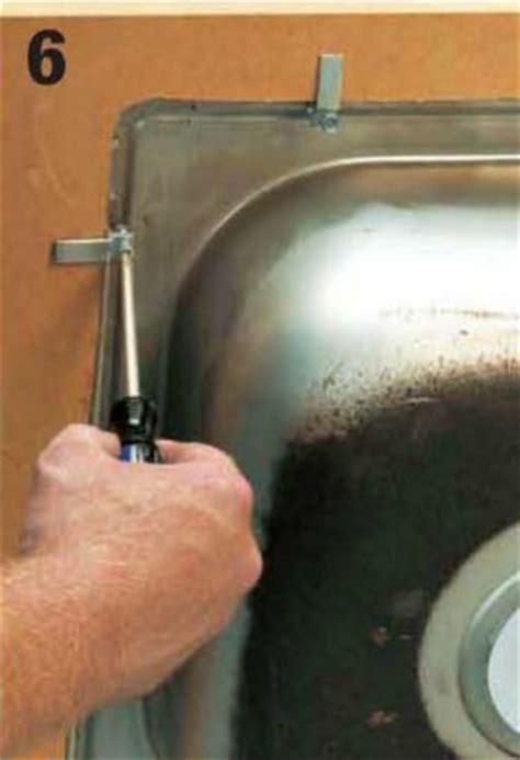 kitchen sink clip installing kitchen sinks home improvement and repair 5678