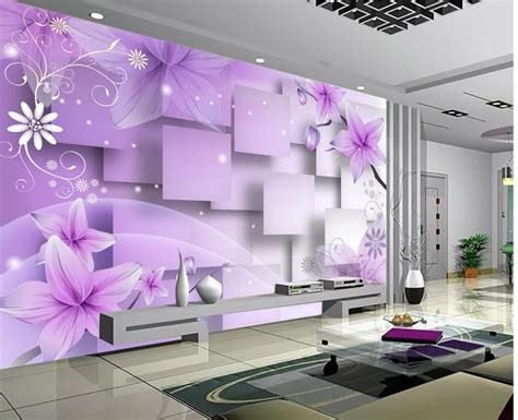 custom  mural continental bedroom living room wall