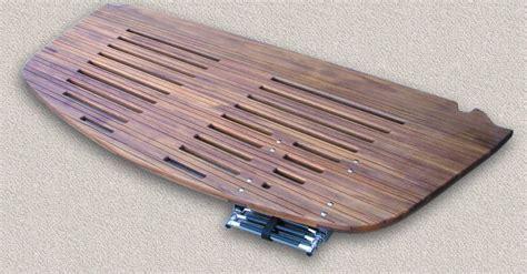 Boat Rear Swim Platform by Teak Swim Dive Platforms Custom Teak Marine Woodwork