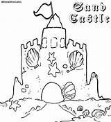 Sandcastle Coloring Pages Building Colorings sketch template
