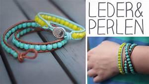 Leder Zum Basteln : diy leder perlen armband zum umwickeln knopf oder knotenverschluss youtube ~ Frokenaadalensverden.com Haus und Dekorationen
