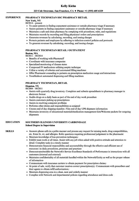 Pharmacy Technician Resume Exle by Pharmacy Technician Resume Sles Ipasphoto