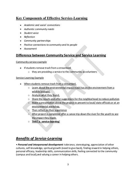 Service Learning Program Proposal