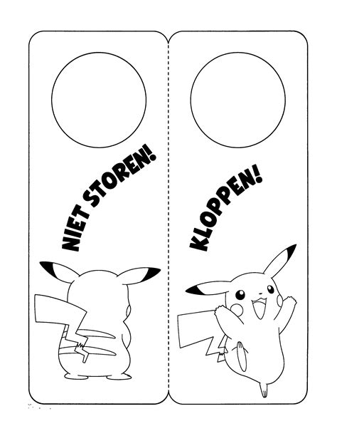 Kenau Kleurplaat by Paradijs Kleurplaat Pikachu Deurhanger Pictureicon