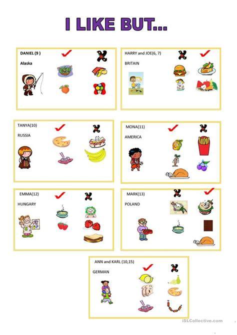i like but speaking card worksheet free esl printable