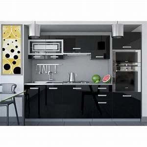 Cuisine Complète Pas Cher : justhome paula 1 cuisine quip e compl te 240 cm couleur ~ Melissatoandfro.com Idées de Décoration