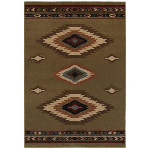 aztec area rug home decorators collection aztec green 4 ft x 6 ft area