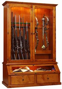 Willow Valley Bar and Game Room 12 Gun / Bow Cabinet