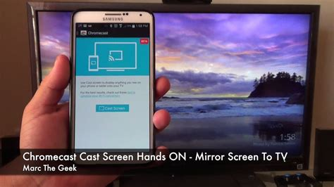 connect my phone to my tv chromecast cast screen feature how to mirror screen to