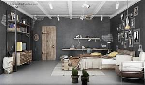 Inspirerende industriële slaapkamers - Roomed