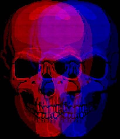 Skull Gifs Tattoos Giphy Purple Skeleton Dark
