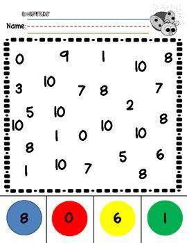 Number Recognition 010 Practice Worksheets  Number Recognition, Worksheets And Math