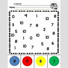 Number Recognition 010 Practice Worksheets Number