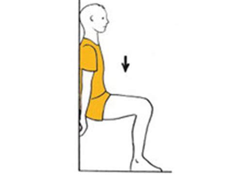 exercice de la chaise top 5 des exercices pour celles et ceux qui ont mal aux