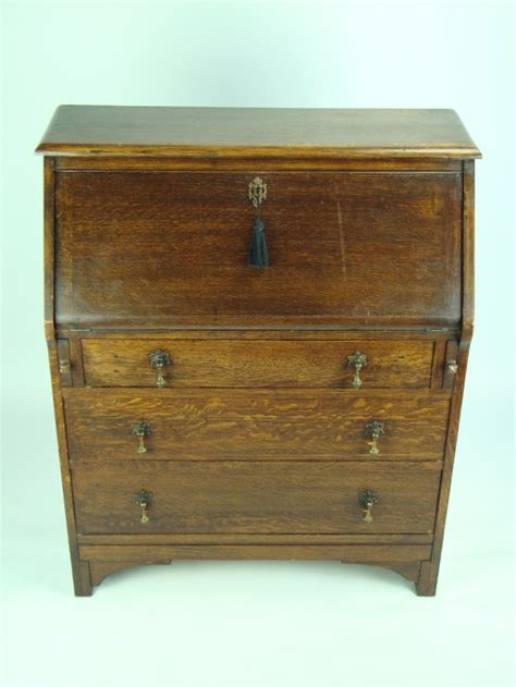 hallway bureau small vintage oak bureau 249809 sellingantiques co uk