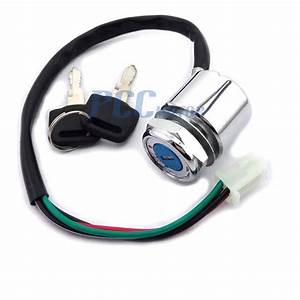 4 Wires Pin Ignition Key Switch Go Kart Atv Quad Pit Dirt
