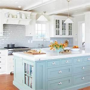 la cuisine blanche d39hier et aujourd39hui With cuisine bleue et blanche