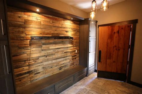 Reclaimed Pallet Wood Wall Sustainable Lumber Company