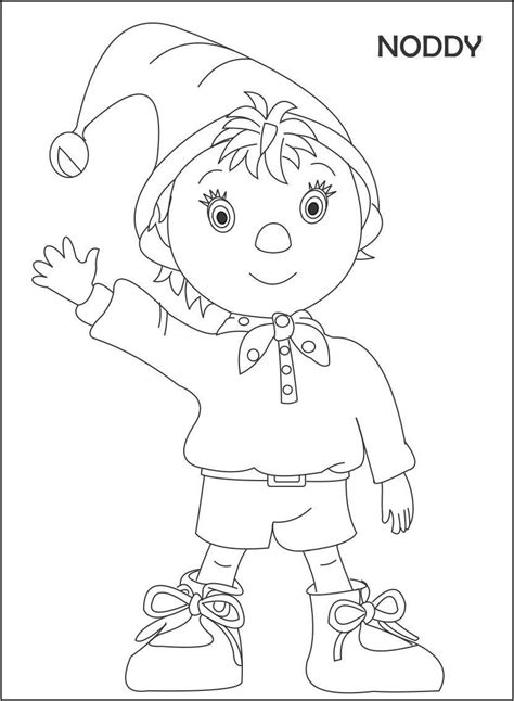 noddy coloring pages games noddy party coloring pages