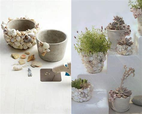 Frische Wanddekoration Mit Pflanzenneue Spiegel Blumentopf by Basteln Mit Muscheln Fantastische Dekoidee Fuer