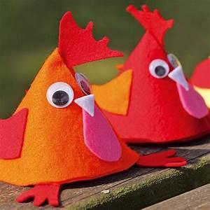 Poule Pour Paques : faire une poule en feutrine pour cacher les chocolats de ~ Zukunftsfamilie.com Idées de Décoration