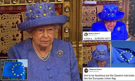 Queen speech hat looks suspiciously like EU flag | Daily ...