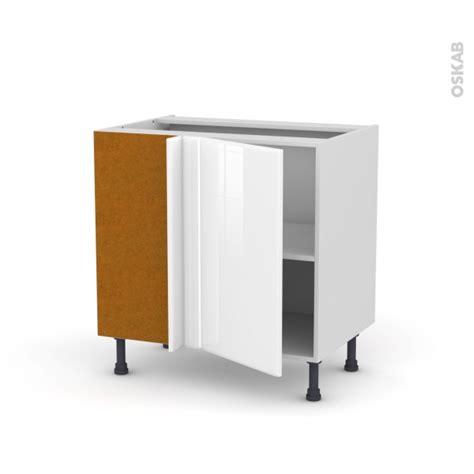 meuble bas d angle cuisine meuble angle bas 1 porte n 19 l40 l80xh70xp58 iris blanc