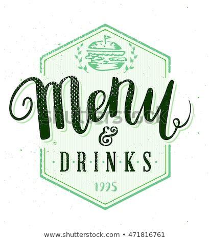 restaurant menu template hand drawn calligraphy stock