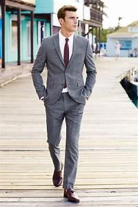 Burgundy Tie Grey Suit | My Dress Tip