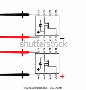 multimeter testing mosfet scheme stock vector 297477107 With how to test fet8217s jfet and mosfet
