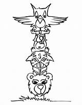 Totem Pole Coloring Pages Printable sketch template