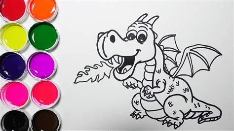 Dibuja y Colorea Un Dragon De Arco Iris Dibujos Para