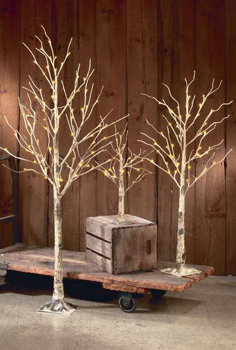 lighted tree branches decorative led lighted brown birch tree branch accent 72