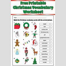 Free Printable Christmas Vocabulary Matching Worksheet! Supplyme