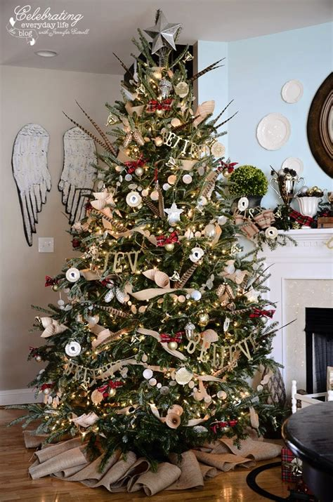 christmas tree decorating ideas with plaid ribbon my hunt country aka inspired by ralph tree