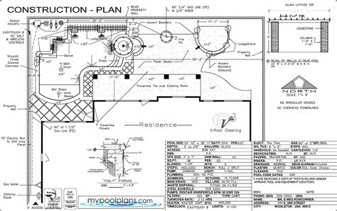 plan for swimming pool swimming pool construction plans las vegas nevada