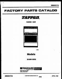 Tappan 3039910003 Range - Gas Timer